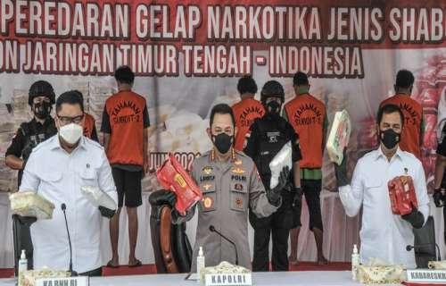 Polda Metro Jaya Bongkar Peredaran Narkoba Jaringan Timur Tengah