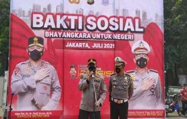 Kapolda Metro Jaya Gandeng Jajarannya Ringankan Beban Warga Terdampak Covid 19