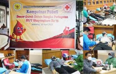 Peringati HUT ke 75 Polri, Kompolnas Gelar Donor Darah Untuk Kemanusiaan