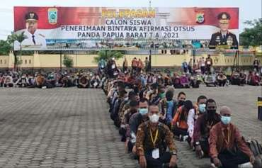 1.500 Calon Siswa Asli Papua Lolos Uji Seleksi Sekolah Polisi