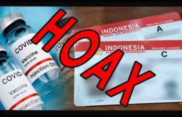 Hoax, Surat Keterangan Vaksinasi Covid 19 Sebagai Syarat Pembuatan SIM dan SKCK
