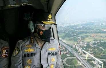 Kabaharkam Polri Pantau Langsung Pemberlakuan PPKM Darurat Melalui Patroli Udara